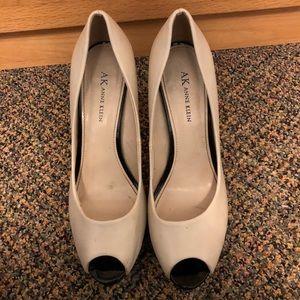 White and black Anne Klein pumps